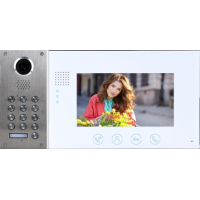 *Classic 2-wire, flush mount video doorphone & keypad + 7 inch colour intercom monitor