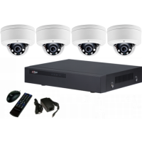 *4 channel IP NVR with POE + 4, IP Dome Camera