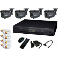 *4 channel DVR + 4, Bullet Cameras + Accessories