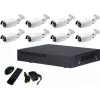 *8 channel IP NVR with POE + 8, IP Bullet Cameras