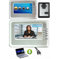 *OZSS entry level  4 wire, surface mount video doorphone with camera + 7 inch colour monitor with memory