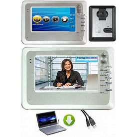 OZSS entry level  4 wire, surface mount video doorphone with camera + 7 inch colour monitor with memory