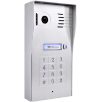 Classic 4-wire, surface mount video doorphone & keypad