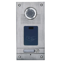 *Classic 4-wire, flush mount video doorphone & card reader