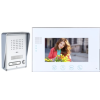 *Classic 4-wire, surface mount video doorphone + 7 inch white intercom monitor