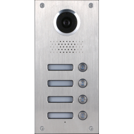 Classic 4-wire, surface mount video doorphone for 4 apartments