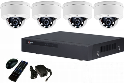 IP security camera system - NVR & 4 dome ip cameras