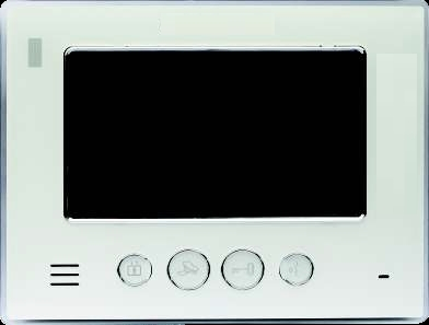 classic IP intercom system monitor with white surround