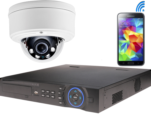 IP security camera & NVR with mobile phone