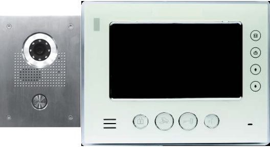 Classic IP intercom system with video doorphone + video monitor